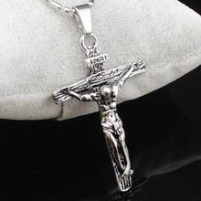 Buy CHIMDOU Stainless Steel Necklace Pendant Cross INRI Jesus Crucifix Chain Necklace Men Jewelry Christmas Gift 2016 Cool for $2.72 in AliExpress store