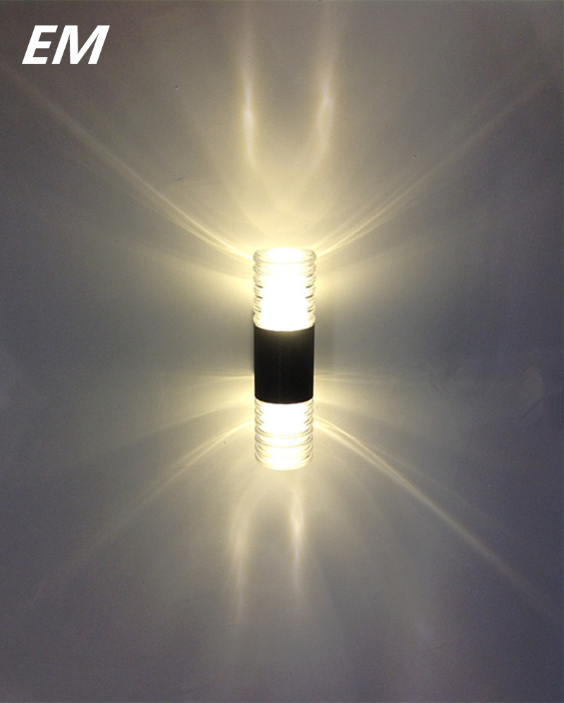NEW 2*5W Crystal led wall sconce outdoor waterproof aluminum warm white up down led wall lamp ...
