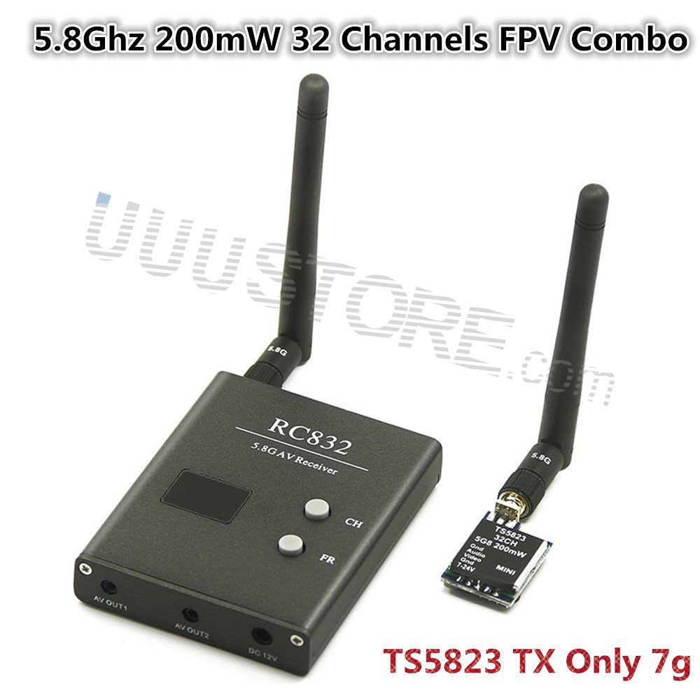 FPV 5.8G 5.8Ghz 200mW 32 Channels Wireless A/V Transmitter And Receiver