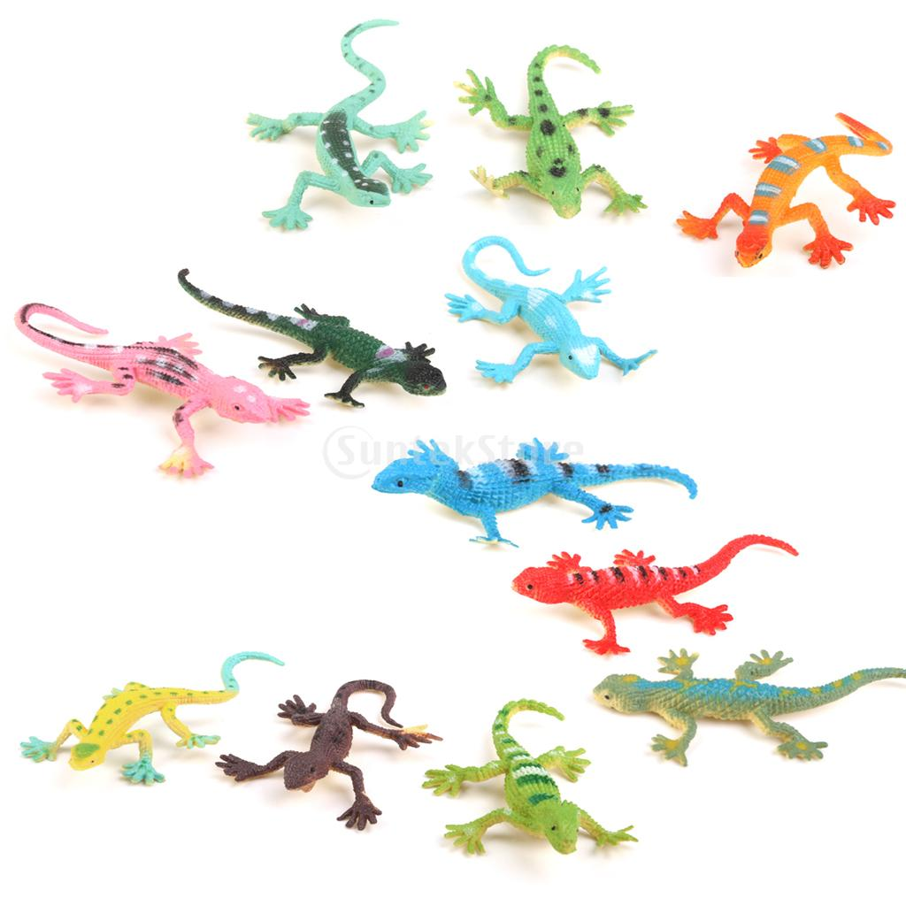 New Arrivals 2015 Small Plastic Lizard Gecko Figures Simulation Decoration Kids Toys 12PCS Free Shipping(China (Mainland))