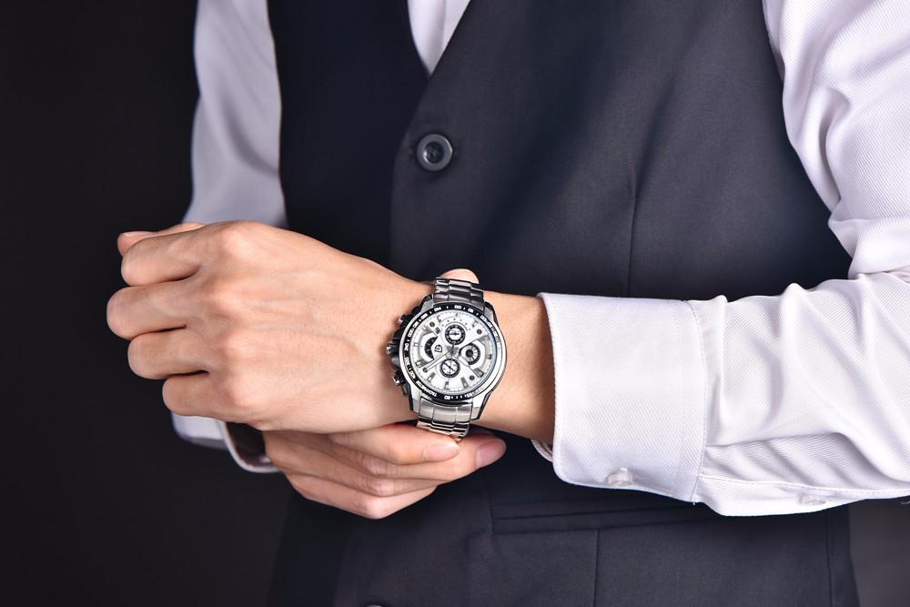 Военные Часы Мужчины Спорт Хронограф Часы Мужчины Лучший Бренд Класса Люкс Из Нержавеющей Стали Водонепроницаемый Наручные Часы Мужчины Часы reloj hombre