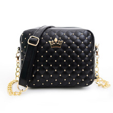 Fashion Style Candy Colors Rivet Casual Women Bags Women Messenger Bags High Quality Leather Small Flap Envelope Women Bags
