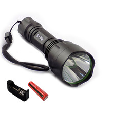 CREE T6 LED Flashlight flash Torch light 2000lm linternas recargable flashlights powerful tactical + 18650 battery+ charger(China (Mainland))