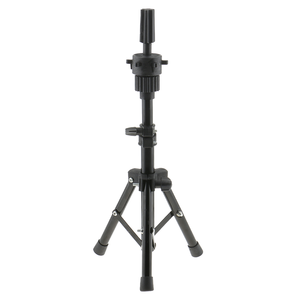 Adjustable Cork Canvas Block Mannequin Model Head Wig Making Display Tripod Stand 21\` Hair Styling Practice Mold Clamp