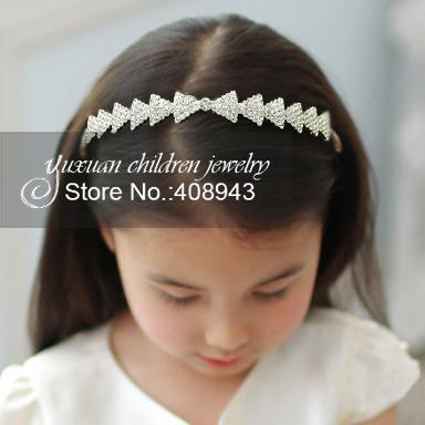 Free shipping Crystal headband Bridal Hair Accessories For girls Baby Children Wedding tiaras Pageant Rhinestone hairbands!T-811(China (Mainland))