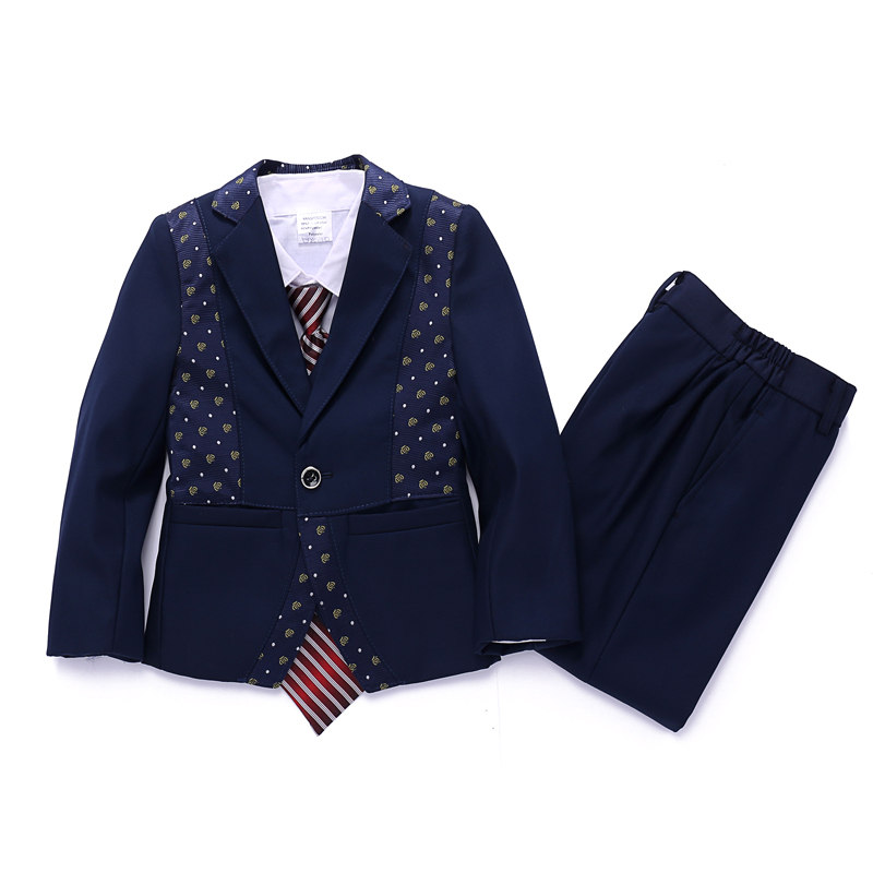 Baby boy Blazer jacket set 3 piece Clothing set Wedding suits for Boys Blazers suits High quality Kids suits Baby Autumn clothes(China (Mainland))