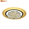 HGHomeart Crystal Round LED Ceiling Lights Modern Luminaria Home Lighting for The Hall Bedroom Lamp Shine