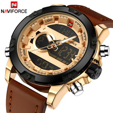 Buy Top Luxury Brand NAVIFORCE Men Sport Watches Men's Quartz LED Analog Clock Man Military Waterproof Wrist Watch relogio masculino for $22.68 in AliExpress store