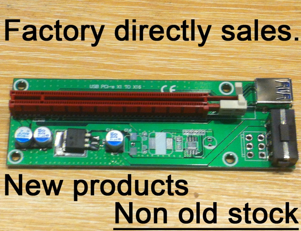 New products | USB 3.0 PCI e X1 TO X16 Adapter PCIe risers card | with 60cm USB3.0 or 4Pin Power supply cable FOR BTC(China (Mainland))