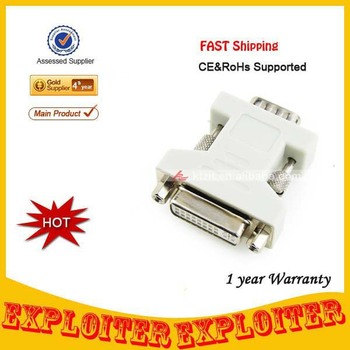 Wholsale DVI 24+5/F to VGA/M Adapter,Free Shipping