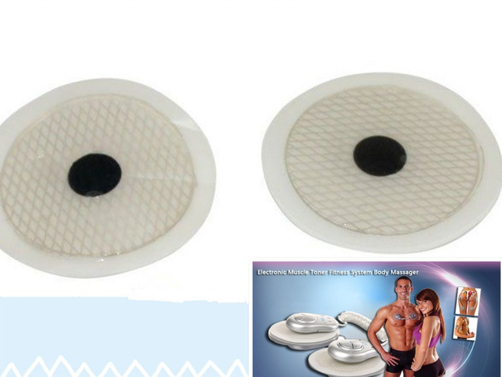 20pcs freeshipping Original Button Massager Pads for Electronic Muscle Toner Fitness System Body Massager ,pads for GYM Form Duo(China (Mainland))
