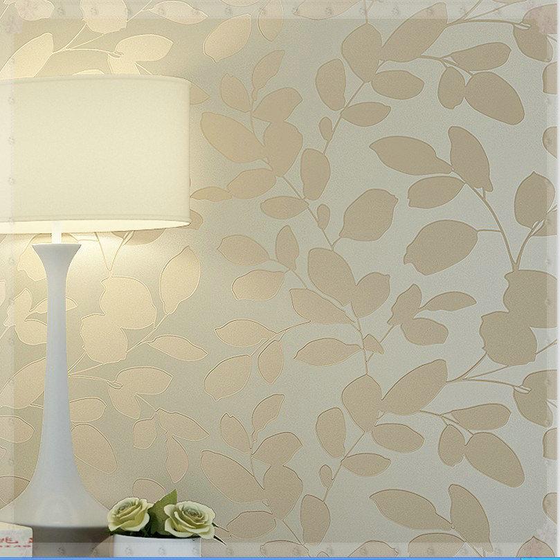 Verde e Branco Wallpaper 3d Papel de Parede Folhas