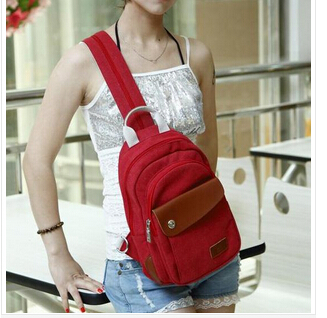 2014 fashion outdoor hipster canvas denim women's small little chest pack cute trigonometric bag(China (Mainland))