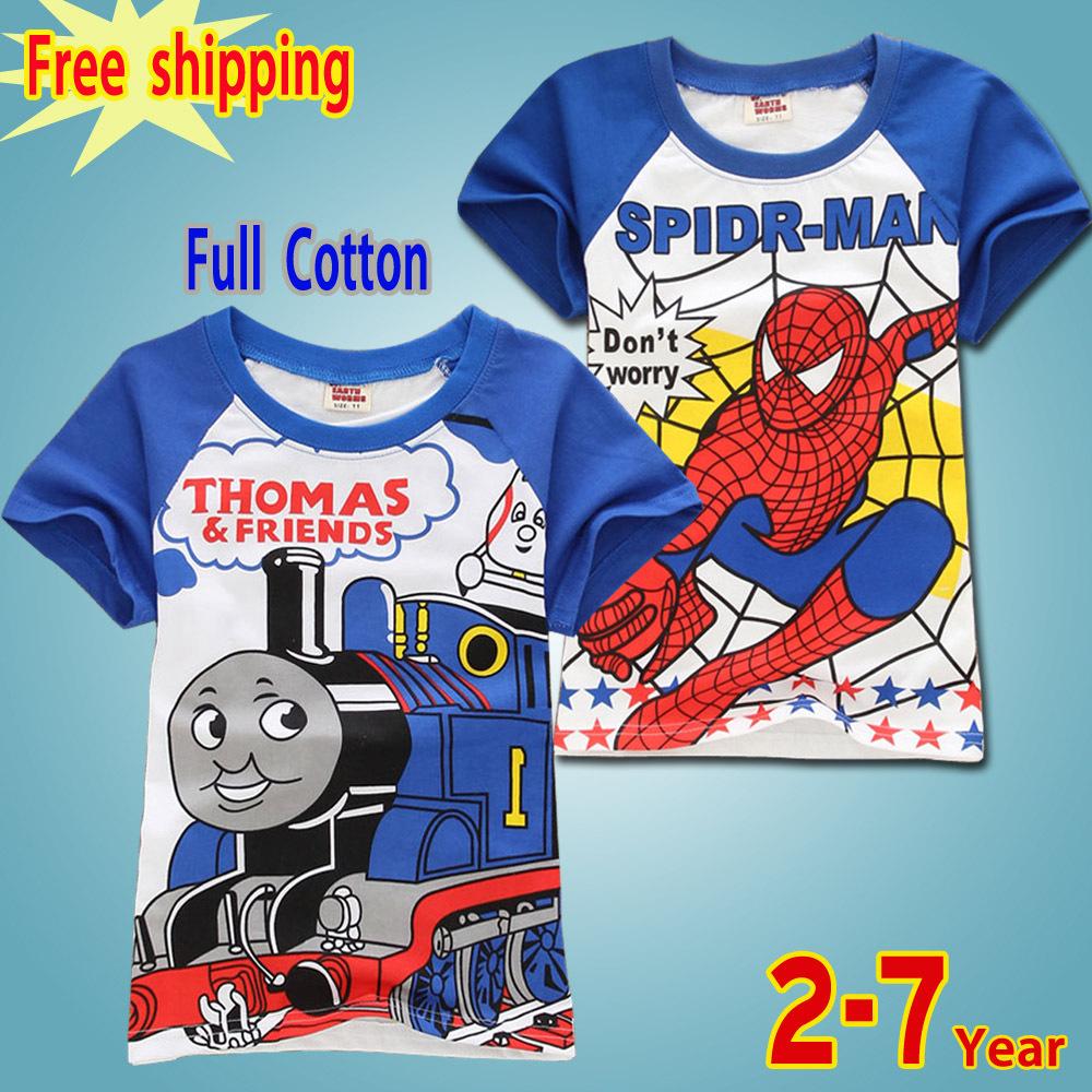 factory outlets free shipping new fashion 2015year summer boys tshirts baby 100% cotton casual cartoon good tshirts fabric(China (Mainland))