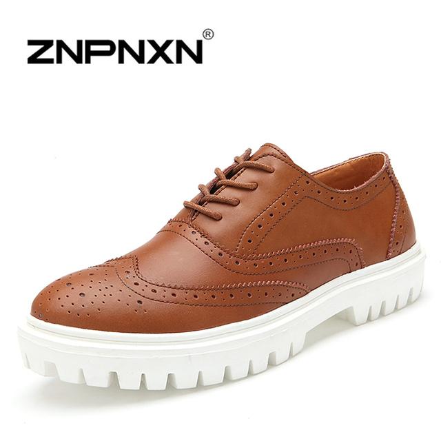 [ Znpnxnshoes ] мужская обувь свободного покроя шнуровка черный лианы платформа обувь