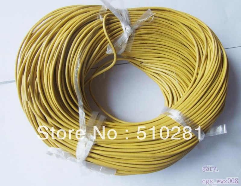 //1mm leather cord) & 100m/lot 9 kinds colors available on wholesale high quality(China (Mainland))