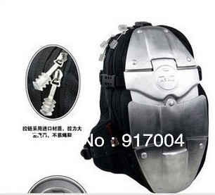 Free shipping Asmn motorcycle aluminum alloy armor backpack aluminum package outdoor sports bag 6 plate