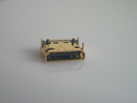 10pcs Mini HDMI Female Connector SMD 19pin Reflow Solderable right angle surface mound PCB Rohs New Free shipping(Hong Kong)