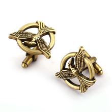 Buy JM Jewelry Movie Hunger Games Cufflinks Men's Cuff Links Men's Shirt Alloy Cuff Buttons Wholesale Retail for $1.41 in AliExpress store