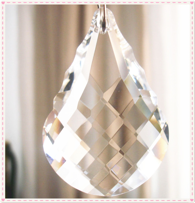 10pcs/lot 38mm Chandelier Crystal Hanging Pendants Glass Shinning Prisms For Chandeliers(China (Mainland))