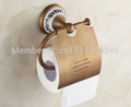 New Bathroom Antique Brass Wall Mounted Toilet paper holder