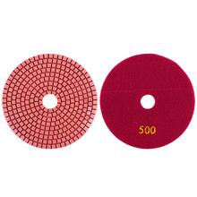 125mm 500 # diamante para pulir mojado discos de pulido rueda de piedra de mármol mojado pulidor de molino