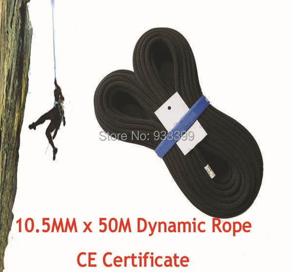 10.5 MM Dynamic Rope Rock Climbing Rope With CE Certificated 50 M/Roll(China (Mainland))