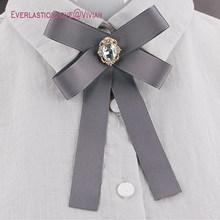 Suqi Baru Fashion Busur Bros Perhiasan untuk Wanita Pita Leher Dasi Bros Wanita Anak Bros Dasi untuk Pesta pernikahan 2019(China)