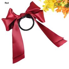 Cute Women Multicolor Satin Ribbon Bowknot Hairband Rope Scrunchie Ponytail Holder Hair Band Accessories para el pelo AC0028(China (Mainland))