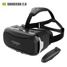Nueva Shinecon VR II 2.0 Casco De Cartón Gafas de Realidad Virtual 3D Teléfono Móvil Película de Vídeo para 4.7-6.0 «Smartphone con Gamepad