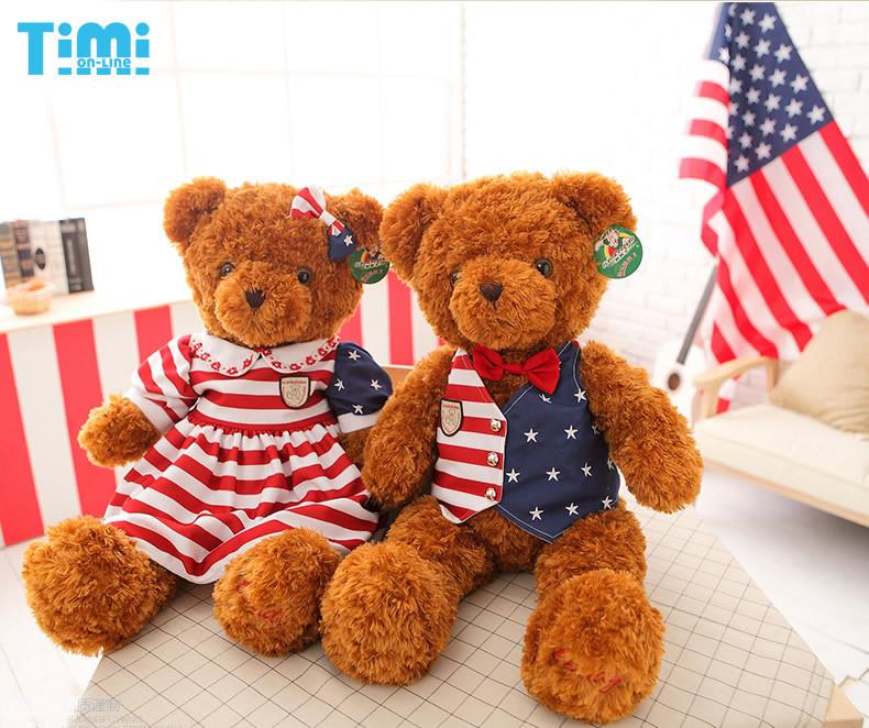 1pair Big Teddy bear dolls(70cm),(Couple models)teddy bear toy bears lovers,hot toys,Free shipping(China (Mainland))