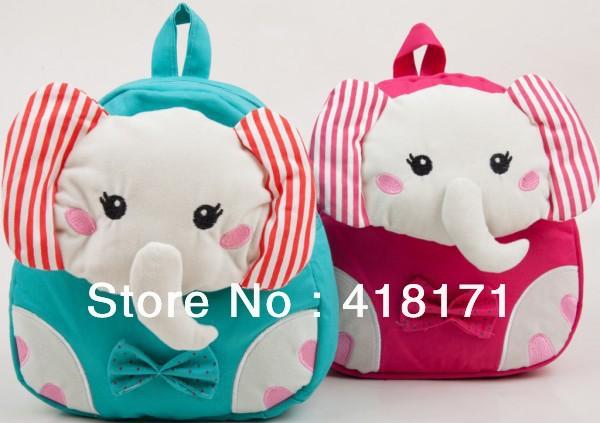 Новый детям детский рюкзак школьный милые животные слон мультипликационный