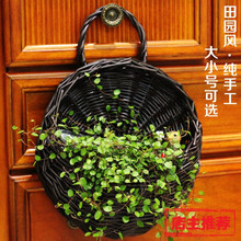 Artificial Silk Roses/Fruits Flowers Baskets Rattan Storage Basket Vase Flowers Set Home Wedding Party Decoration(China (Mainland))