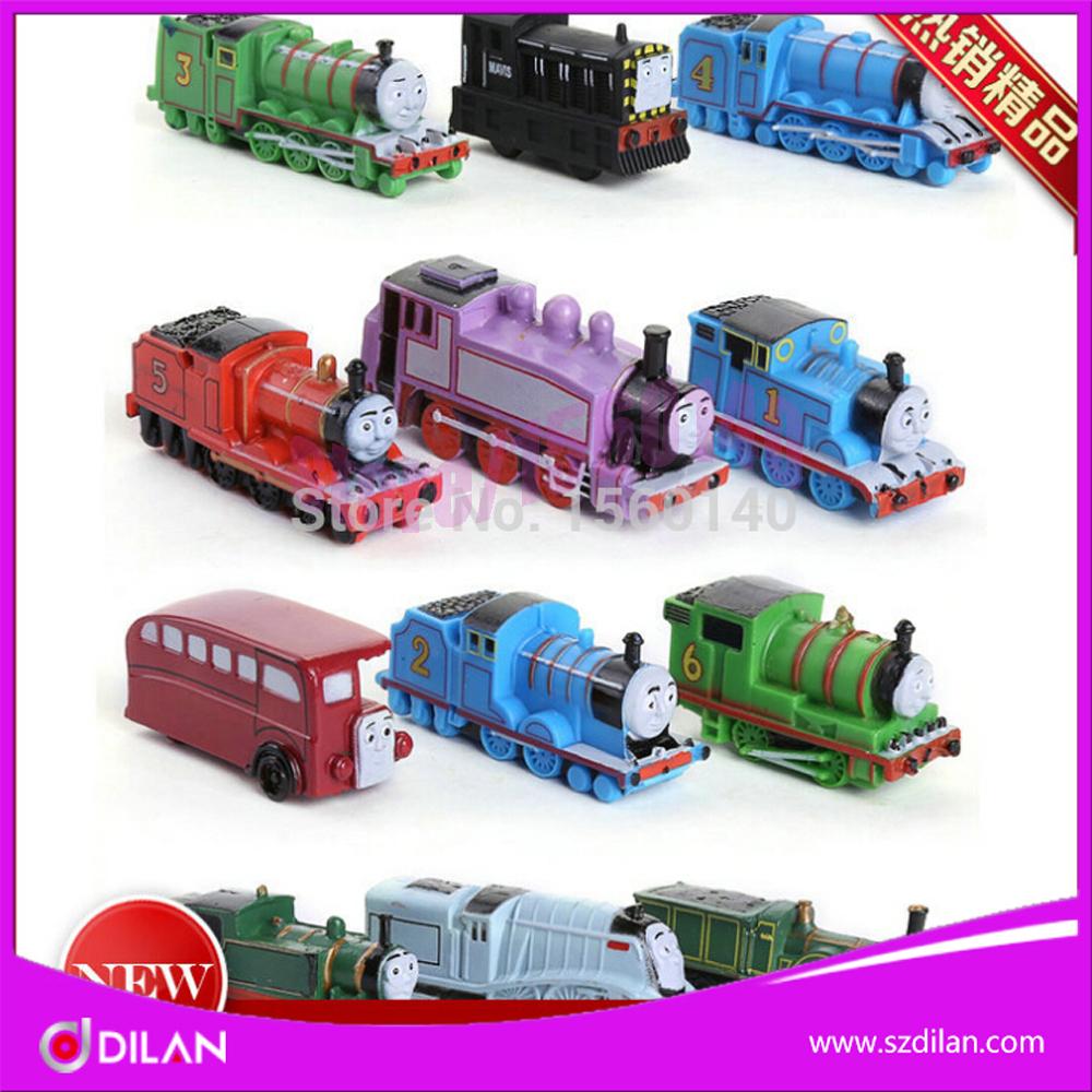 2015 Anime 12Pcs/Lot thomas and friends trains set/ diecast metal tomas train toys for children kids child brinquedos(China (Mainland))