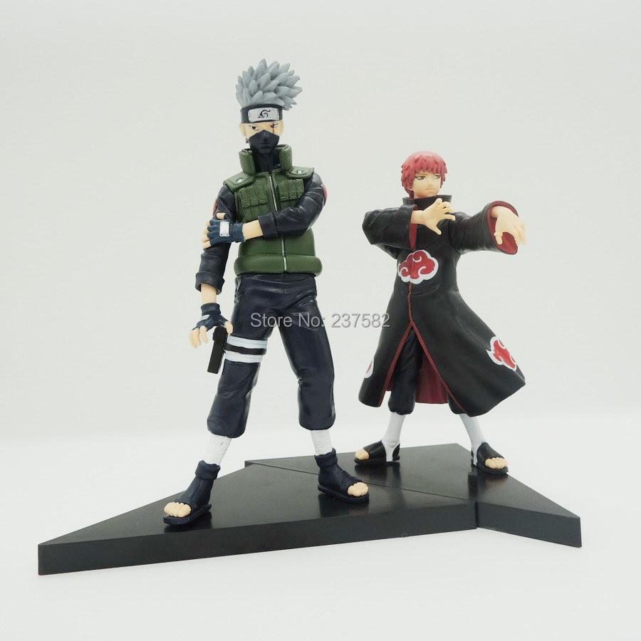 Hotsell 2pcs/set 14cm PVC japanese anime figures naruto Doll Sasori +Hatake Kakashi Naruto Action Figure Toy(China (Mainland))