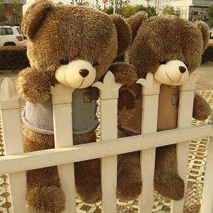 60cm sweater tedy bear blue or khaki cloth bear doll plush toy bear doll lovers gift t8924(China (Mainland))