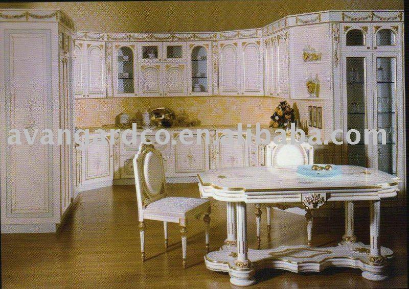 stile classico antico armadio da cucina in legno , colore bianco da ...