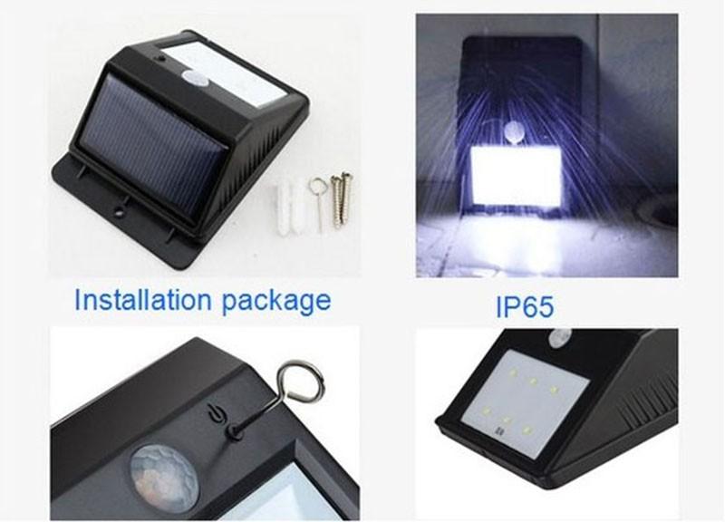 Solar Powered Wall Night Light Bright 20 LED Motion Sensor Detector Sconces Waterproof Outdoor Garden Patio Gutter Fence Lamp