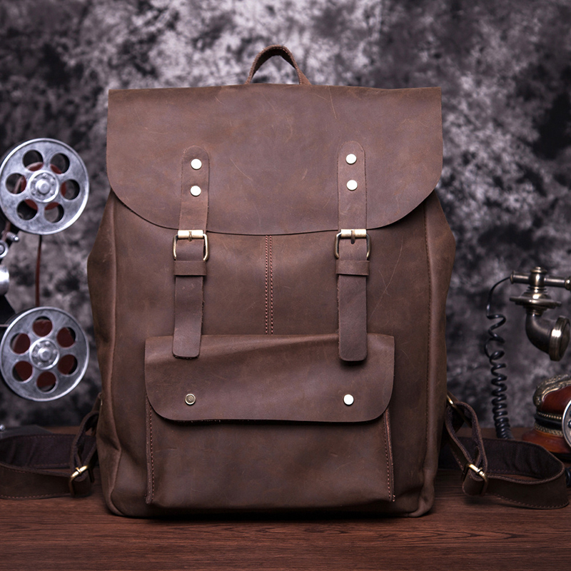 2016 New Fashion Backbags 100% Genuine Cowhide Leather Shoulders Bag Vintage High Quality Messenger Bags Bolsa Feminina smb416(China (Mainland))