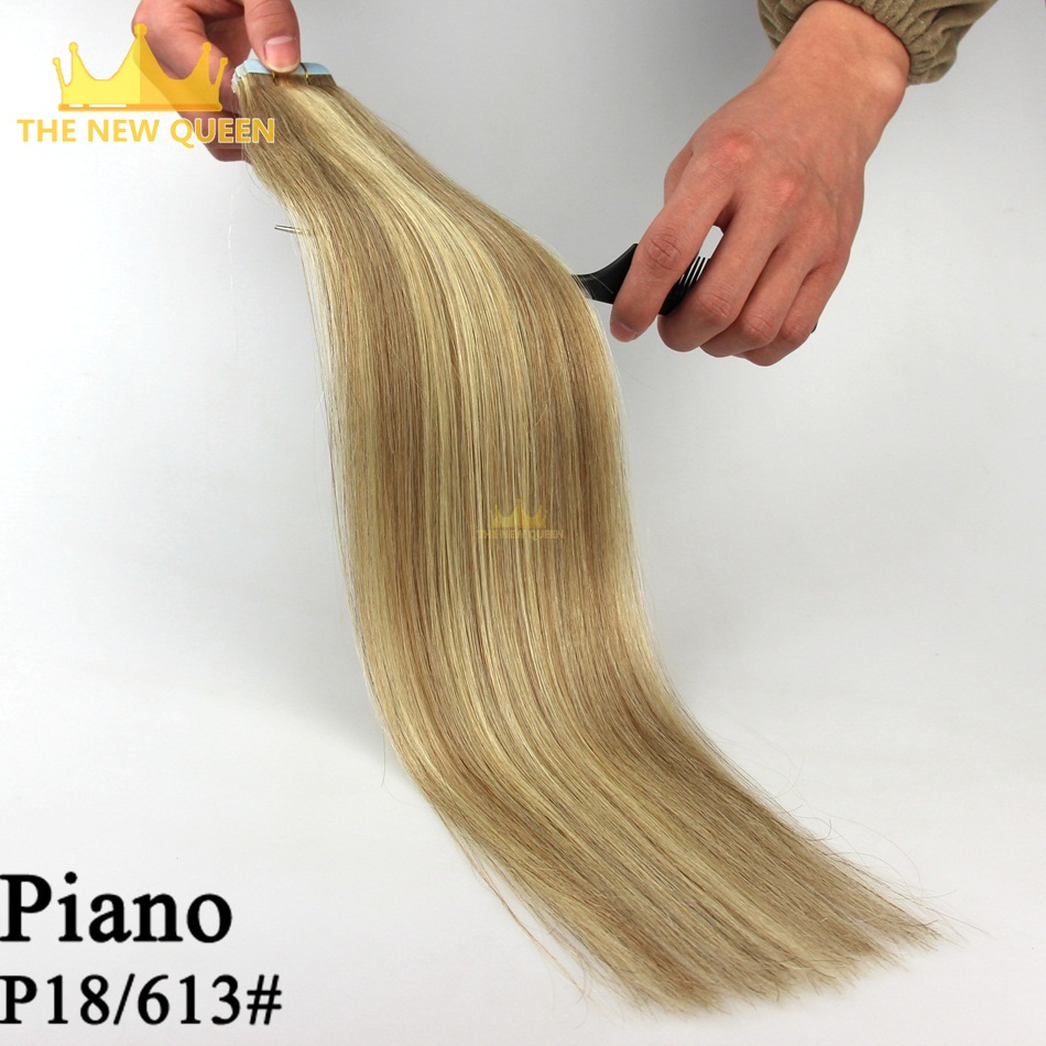 Piano color 18/60#  Tape Hair Extensions 182022 strong blue lace tape adhesive 20pcs/pack for fashions women Hair Extensions<br><br>Aliexpress