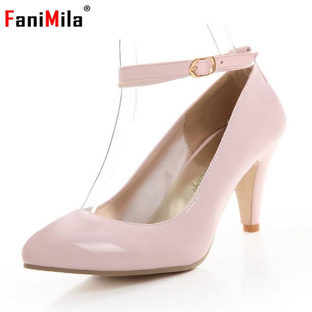 Размер 31-43 женщины туфли на высоких каблуках пряжка сексуальная платформа весна ...