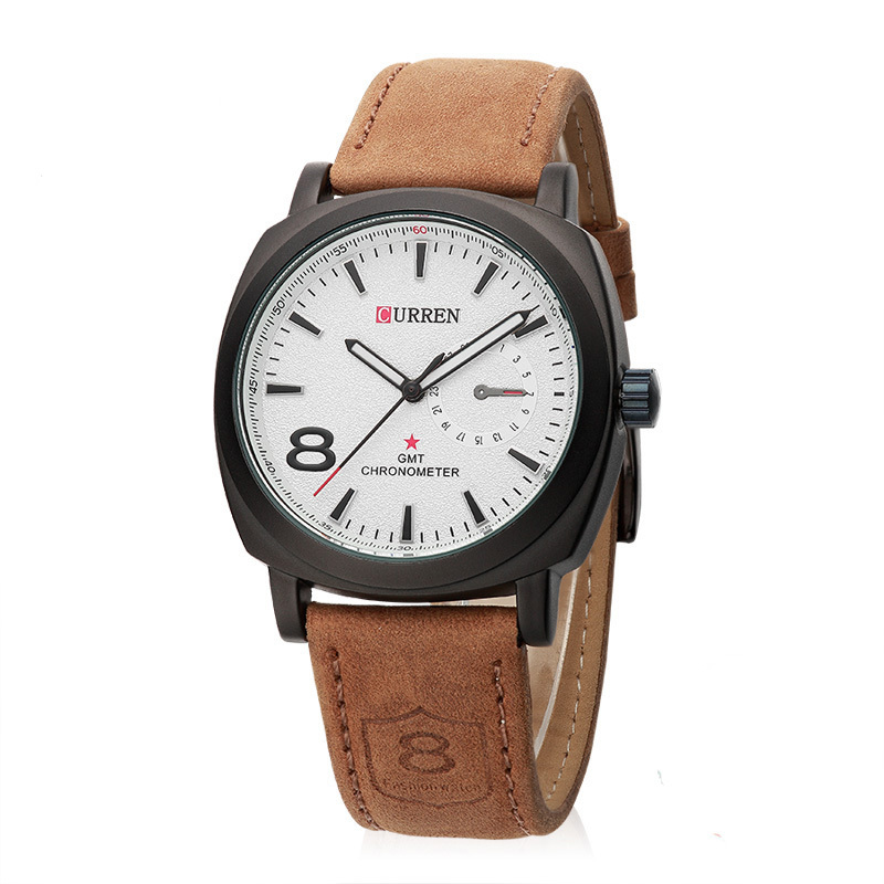 Mens quartz outdoor sports watches military fashion casual wristwatches men leather strap for Outdoor watches