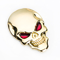 2016 Hot 3D Skull zinc alloy Metal Car Motorcycle Sticker Skull Emblem Badge car styling stickers