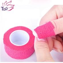 Нетканые ногтей для удалить бинт 5 цветов дизайн ногтей эластичность рулона ленты Swathe инструменты JH365(China (Mainland))