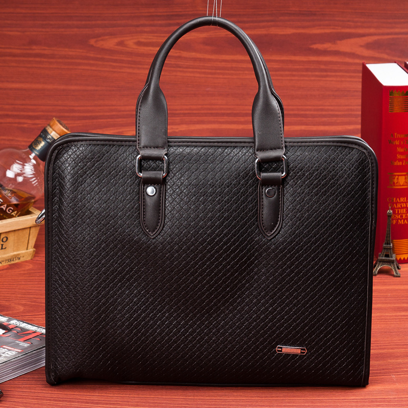 2015 New Genuine leather briefcase leather bags for men handbag messenger bag men's shoulder bags business bag free shipping(China (Mainland))