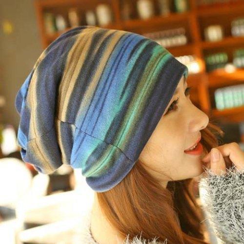 Шикарный цвета радуги многофункциональный двухэтажных шапочки для женщин мода рукав ...
