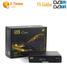 [Genuine] HD V8 Golden adapter DVB-S2/T2 Satellite Cable Receiver Support IPTV Youtube cccam cline replace Better V8 Super