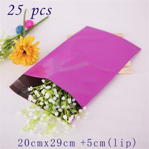 produto 25PCS 7.88\ x 11.42\ Highest Quality 2.6 Mil Purple Poly Mailers Postal Envelopes Self Adhesive Seal Plastic Mailing Bags