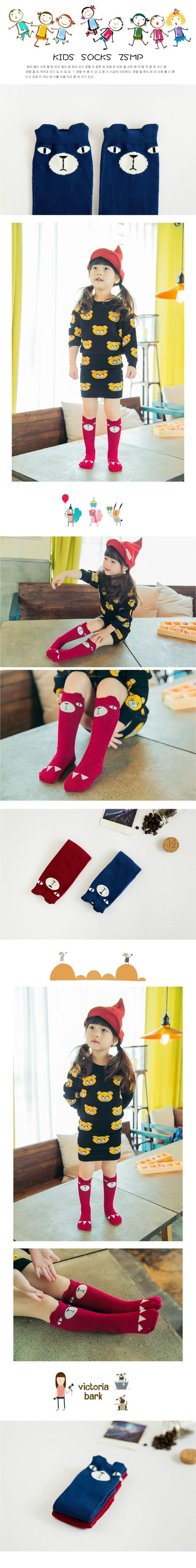 Новые дети осень весна животных носки мышь и синий слон хлопка малыш высокая детская носок для девушки ноги теплые