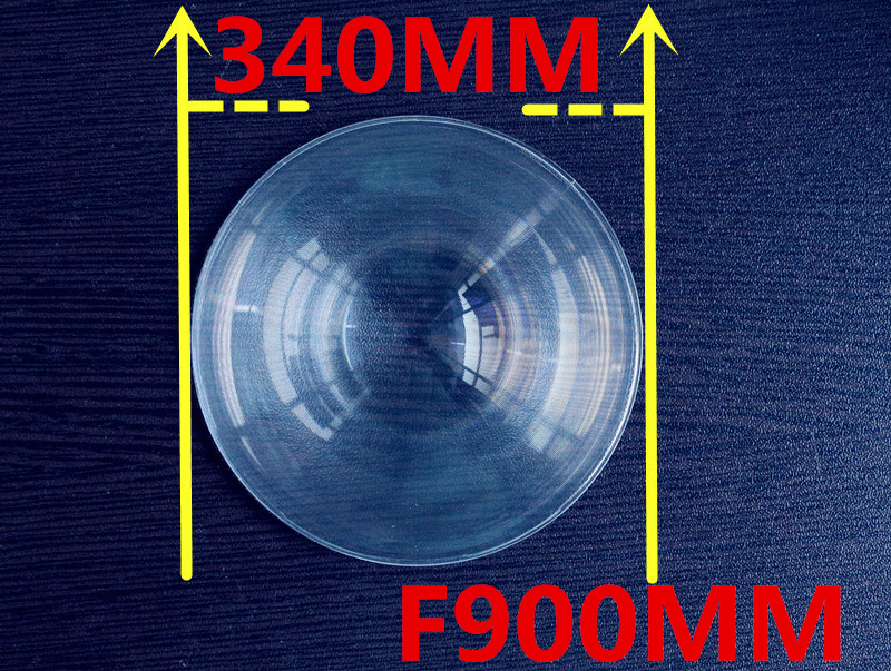 fresnel lens solar long Focal length 900mm Diameter 340mm Fresnel Lens big size fresnel lens thickness 2mm circle lens(China (Mainland))